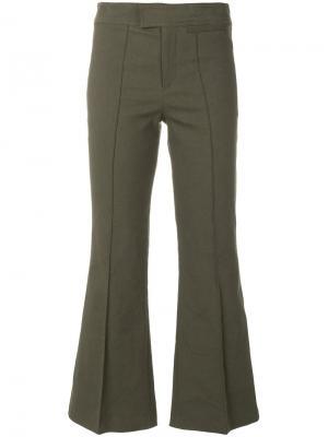 Расклешенные укороченные брюки Isabel Marant. Цвет: зелёный