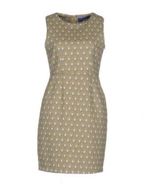 Короткое платье ANONYME DESIGNERS. Цвет: серый