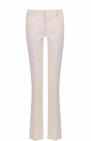 Расклешенные брюки с карманами и стрелками Bally. Цвет: белый