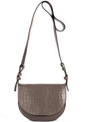 Кожаная сумка через плечо Gianni Chiarini. Цвет: животный принт