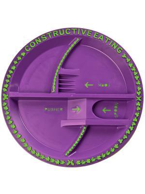 Тарелка Constructive Eating. Цвет: розовый