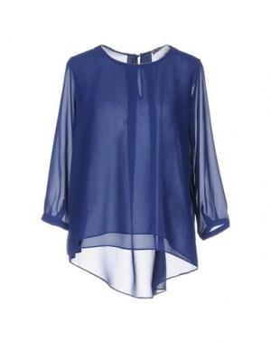 Блузка CASHMERE COMPANY. Цвет: синий