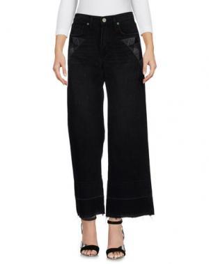 Джинсовые брюки SANDRINE ROSE. Цвет: черный