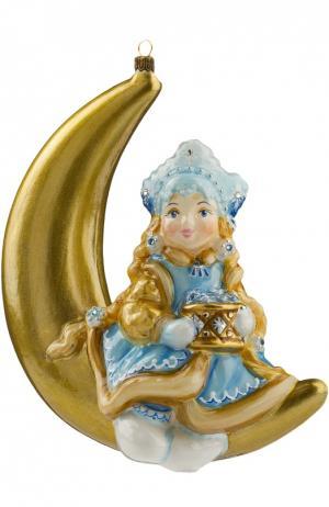Елочная игрушка Снегурочка на месяце Atlas Art. Цвет: разноцветный