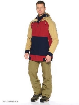 Куртка O'Neill. Цвет: красный, бежевый, синий