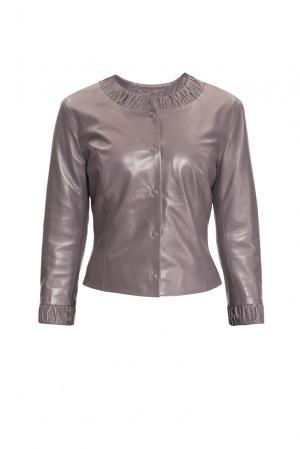 Кожаная куртка 151989 Izeta. Цвет: серый