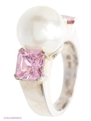 Ювелирное кольцо Happy Garnets. Цвет: серебристый, розовый, белый