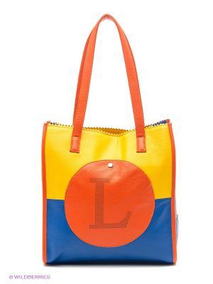 Сумка Leighton. Цвет: желтый, синий, оранжевый
