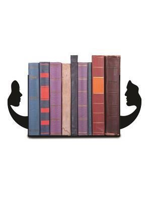 Декоративная подставка-ограничитель для книг Лица Magic Home. Цвет: черный