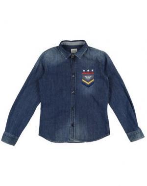 Джинсовая рубашка ARMANI JUNIOR. Цвет: синий