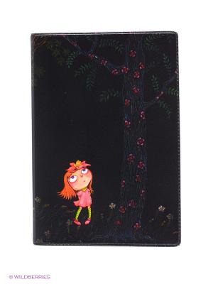 Обложка для паспорта Девочка в розовом платье ночью Mitya Veselkov. Цвет: коричневый
