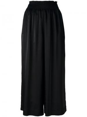 Укороченные широкие брюки Forte. Цвет: чёрный