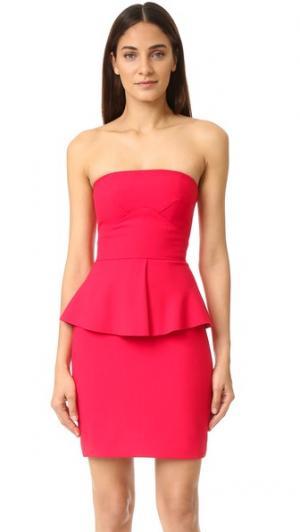 Платье без бретелек Laurel Elizabeth and James. Цвет: красный