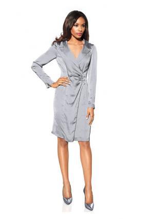 Платье PATRIZIA DINI. Цвет: серый, темно-синий