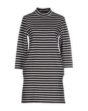 Короткое платье WOOD. Цвет: темно-синий