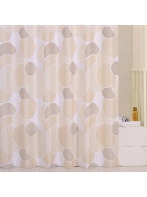 Штора для ванной IDDIS. Цвет: бежевый