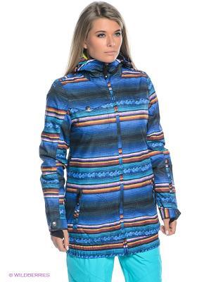 Куртка DC Shoes. Цвет: синий, морская волна, желтый, белый