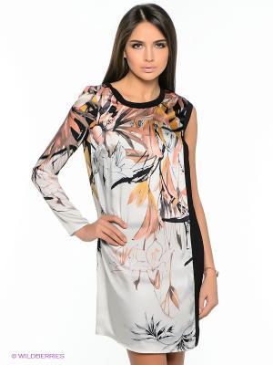 Платье GUESS. Цвет: серый, черный