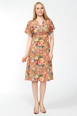 Платье на кокетке Arrangee. Цвет: золотисто-коричневый