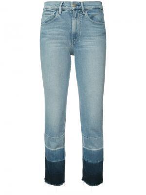 Укороченные джинсы Shelter 3X1. Цвет: синий
