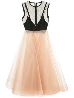 Платье Halsey Alex Perry. Цвет: телесный