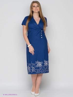 Платье D`imma. Цвет: синий
