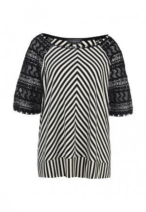 Блуза Roccobarocco Knitwear. Цвет: черный