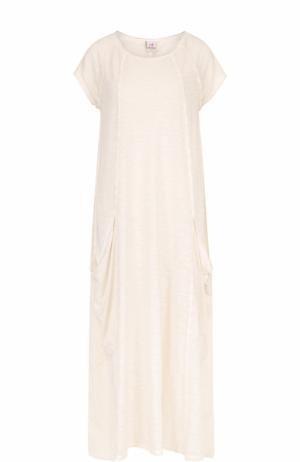 Платье-макси свободного кроя с накладными карманами Deha. Цвет: серый