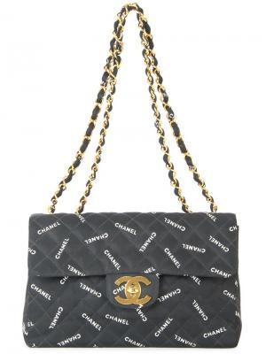 Стеганая сумка на плечо Chanel Vintage. Цвет: чёрный
