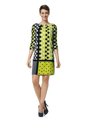 Платье Heine. Цвет: черный/желтый