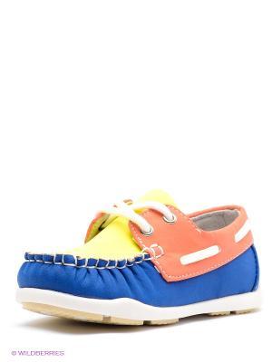Мокасины Vitacci. Цвет: темно-синий, оранжевый, желтый