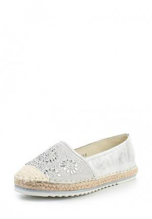 Эспадрильи Max Shoes. Цвет: серебряный