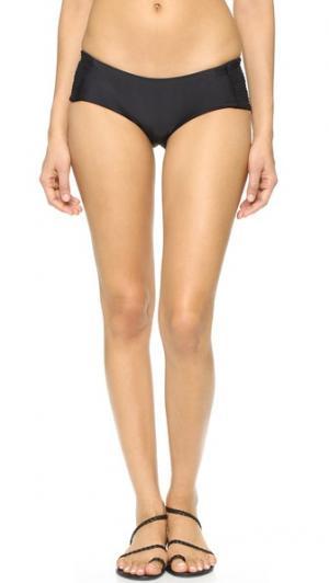 Плавки бикини Malia Tori Praver Swimwear. Цвет: голубой