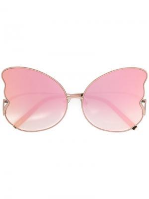 Солнцезащитные очки в форме бабочки Matthew Williamson. Цвет: розовый и фиолетовый