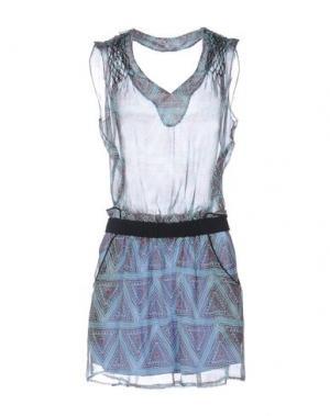 Короткое платье KORALLINE. Цвет: лазурный