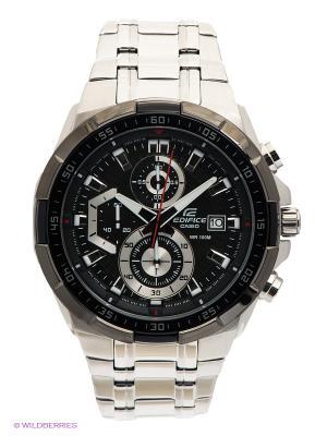 Часы EDIFICE EFR-539D-1A CASIO. Цвет: серебристый, черный