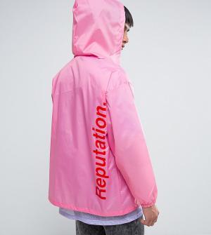 Reclaimed Vintage Розовая неоновая ветровка в стиле ретро Inspired. Цвет: розовый