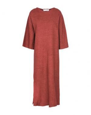 Длинное платье UN-NAMABLE. Цвет: кирпично-красный