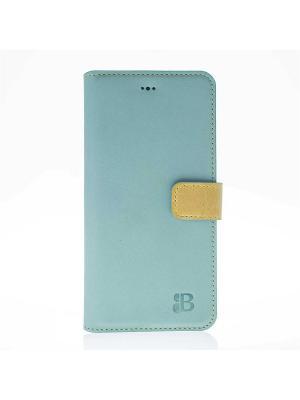 Чехол книжка iPhone 7 Plus Burkley. Цвет: голубой