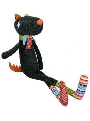 Мягкая игрушка Синьор Волк, 100 см Ebulobo. Цвет: черный, серый, темно-серый