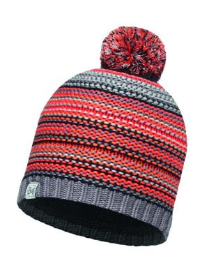 Шапка JUNIOR KNITTED & POLAR HAT AMITY GREY CASTLEROCK Buff. Цвет: оранжевый, серый