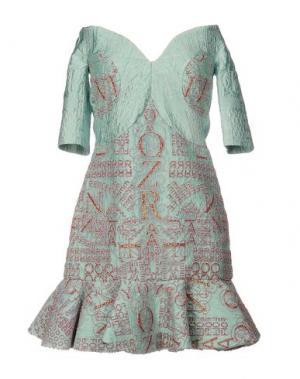 Короткое платье MARY KATRANTZOU. Цвет: бирюзовый