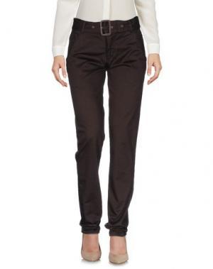 Повседневные брюки DAKS LONDON. Цвет: темно-коричневый