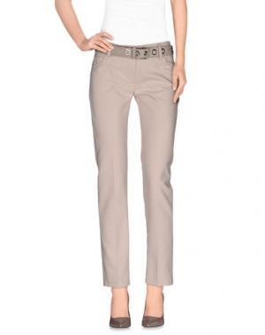 Повседневные брюки ANDREA MORANDO. Цвет: бежевый