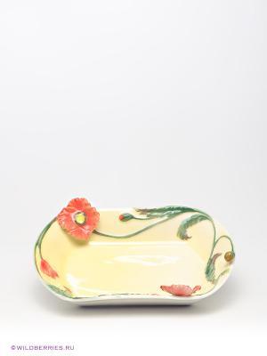 Блюдо Маки Pavone. Цвет: желтый, красный