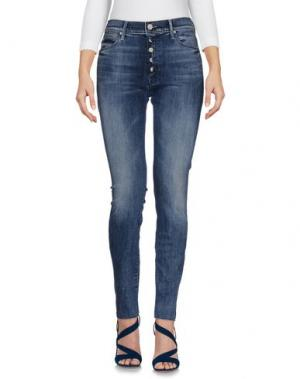Джинсовые брюки MOTHER. Цвет: синий