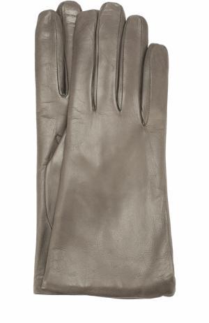 Кожаные перчатки Sermoneta Gloves. Цвет: серый