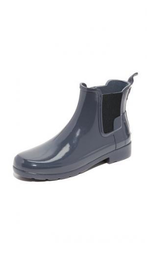 Оригинальные изысканные ботильоны челси Hunter Boots. Цвет: темный синевато-серый
