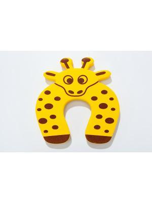 Стоппер для дверей детский ЖИРАФ BRADEX. Цвет: желтый