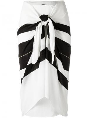 Striped midi skirt Osklen. Цвет: чёрный